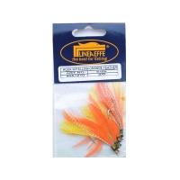 Ophængerfluer 5 stk. orange/gul/sølv glitter
