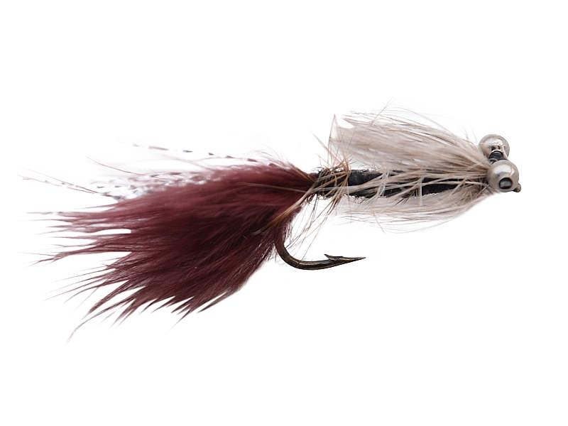 Dog nobler streamer flue grå/lilla/brun til put and take str. 4